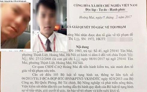 Nghi phạm dâm ô bé gái 8 tuổi ở Hà Nội bị khởi tố - 1