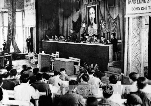 Đại hội Đảng toàn quốc lần thứ II tổ chức tại Chiến khu Việt Bắc (2/1951). Ảnh: TTXVN