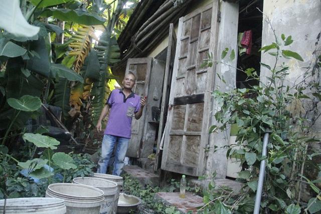 Căn nhà nhỏ của ông Hành ở Gia Lâm, Hà Nội.