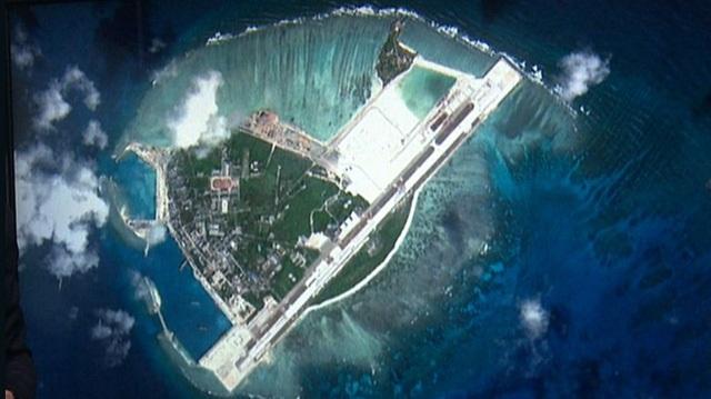 Đảo Phú Lâm thuộc quần đảo Hoàng Sa của Việt Nam bị Trung Quốc chiếm đóng phi pháp (Ảnh: Dailymail)