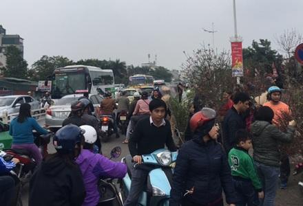 """Hà Nội: Đổ xô tới chợ hoa Nhật Tân """"phút chót"""", đường tắc cục bộ - 2"""