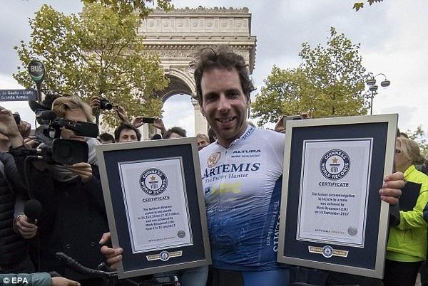 Beaumont đã dành được 2 kỷ lục thế giới mới sau khi hành trình kết thúc