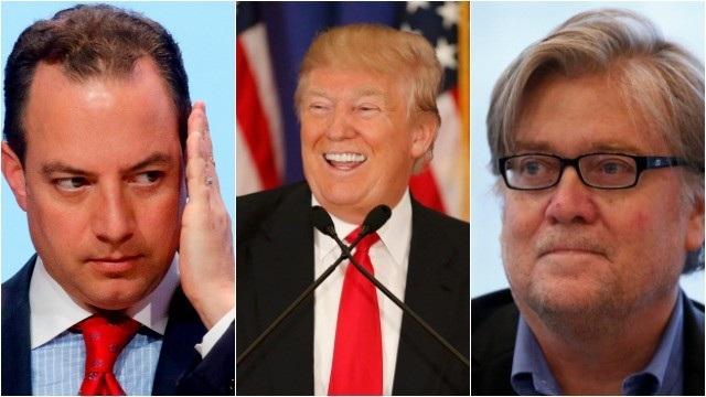Phía sau Tổng thống Mỹ Donald Trump là cuộc đấu đá nội bộ giữa hai trợ lý cấp cao. (Ảnh minh họa: Getty)