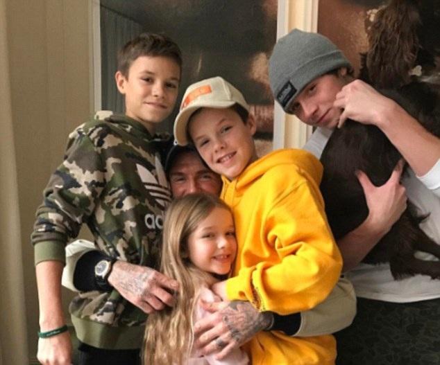 David Beckham tự hào vì có bốn đứa con ngoan ngoãn, yêu thương gia đình và vâng lời cha mẹ