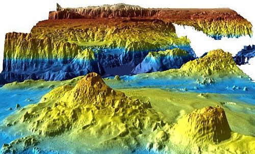 Đồ họa về đáy biển được các nhà hải dương học Australia công bố. Ảnh: Reuters.