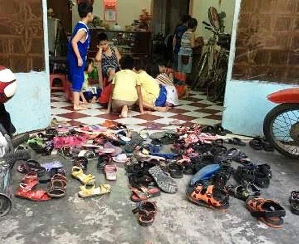 Điểm dạy thêm của 3 cô giáo Trường tiểu học Bình Trị 1, quận Bình Tân, TPHCM (Ảnh do phụ huynh cung cấp)