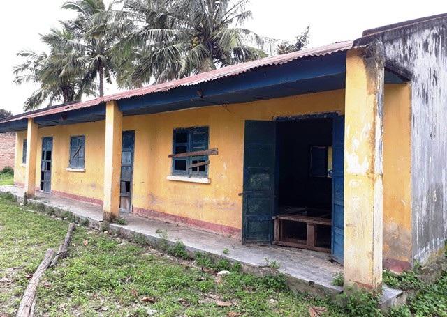 Điểm trường Nhơn Bông, trường tiểu học Ayun 2 (Mang Yang, tỉnh Gia Lai) bị bỏ hoang