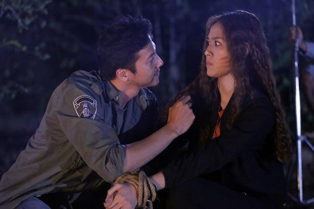 Trong cảnh quay hành động, Diệp Bảo Ngọc đã bị trầy nhẹ ở mặt.