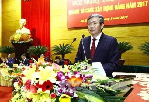 Thường trực Ban Bí thư Đinh Thế Huynh phát biểu tại hội nghị (ảnh: TTXVN)