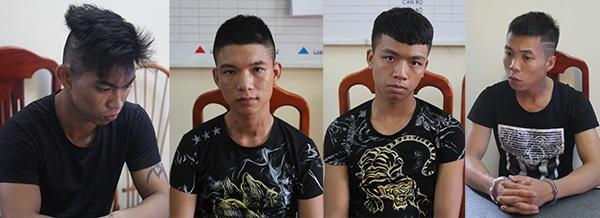 Nhóm đối tượng bị bắt giữ (ảnh: Công an nhân dân)