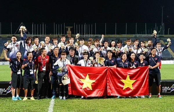 Đội tuyển bóng đá nữ giành HCV SEA Games