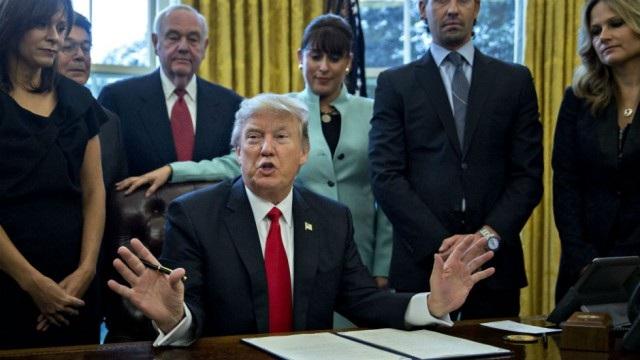 Tổng thống Mỹ Donald Trump tại Nhà Trắng. (Ảnh: Reuters)