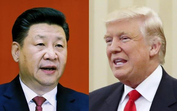 Chủ tịch Trung Quốc Tập Cận Bình (trái) và Tổng thống Mỹ Donald Trump. (Ảnh: Nikkei)