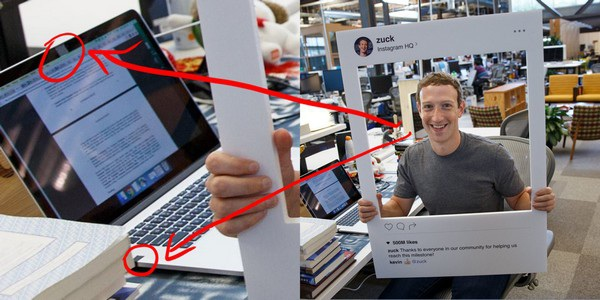 Hình ảnh CEO Mark Zuckerberg của Facebook chia sẻ trên trang cá nhân cho thấy webcam và microphone trên laptop đã được dán kín bằng băng keo