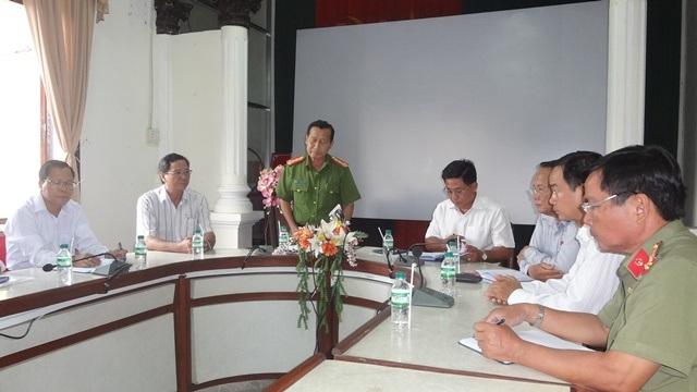 UNBND tỉnh Vĩnh Long họp báo thông tin vụ nghi phạm chết trong trại tam giam