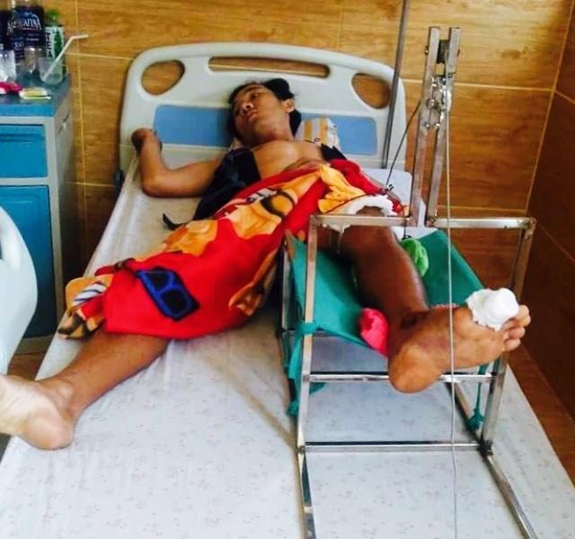 Anh Tiên hiện đang nằm cấp cứu và điều trị tại Huế