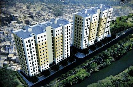 Phối cảnh khu chung cư mới  tại Lán Bè (quận Lê Chân) ảnh internet