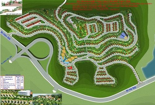 Phối cảnh dự án Khu biệt thự đồi Thủy sản vừa bị tỉnh tút còi (ảnh Internet)