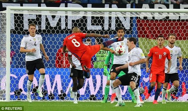 Vidal không thể mang lại sự khác biệt cho Chile ở trận đấu này