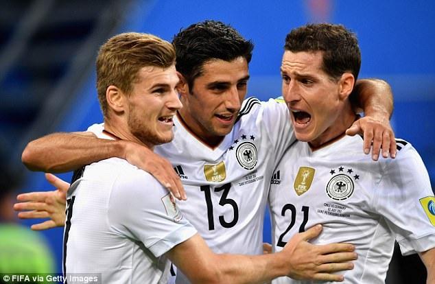 Đức thể hiện đẳng cấp ấn tượng tại Confederations Cup 2017