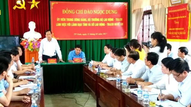 Bộ trưởng Đào Ngọc Dung phát biểu tại Hội nghị