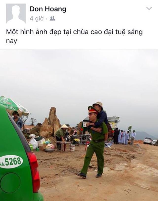 Hình ảnh được tài khoản Don Hoang đăng tải trên trang facebook cá nhân