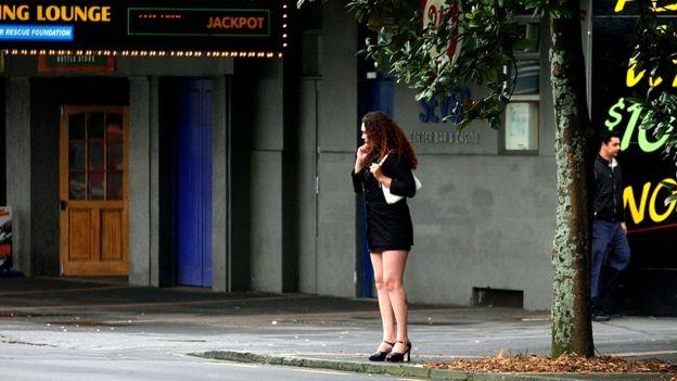 Phố mại dâm Karangahape trong một bức ảnh năm 2003 (Ảnh: Getty)