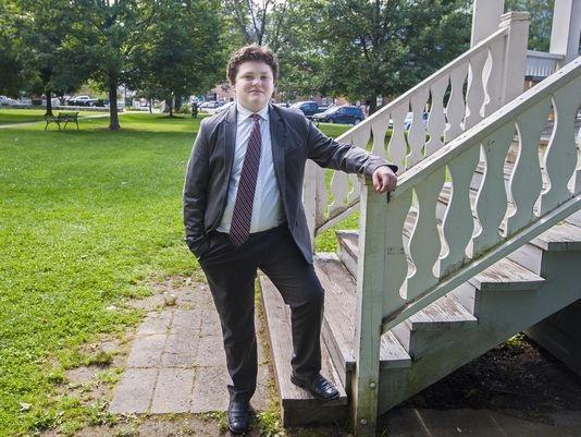 Ethan Sonneborn, 13 tuổi, ứng cử viên Thống đốc bang Vermont (Ảnh: Free Press)