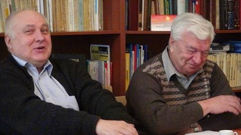 Nhà Việt Nam học Kobelev (phải) và nhà nghiên cứu Việt Nam Varonhin (Ảnh: VOV)