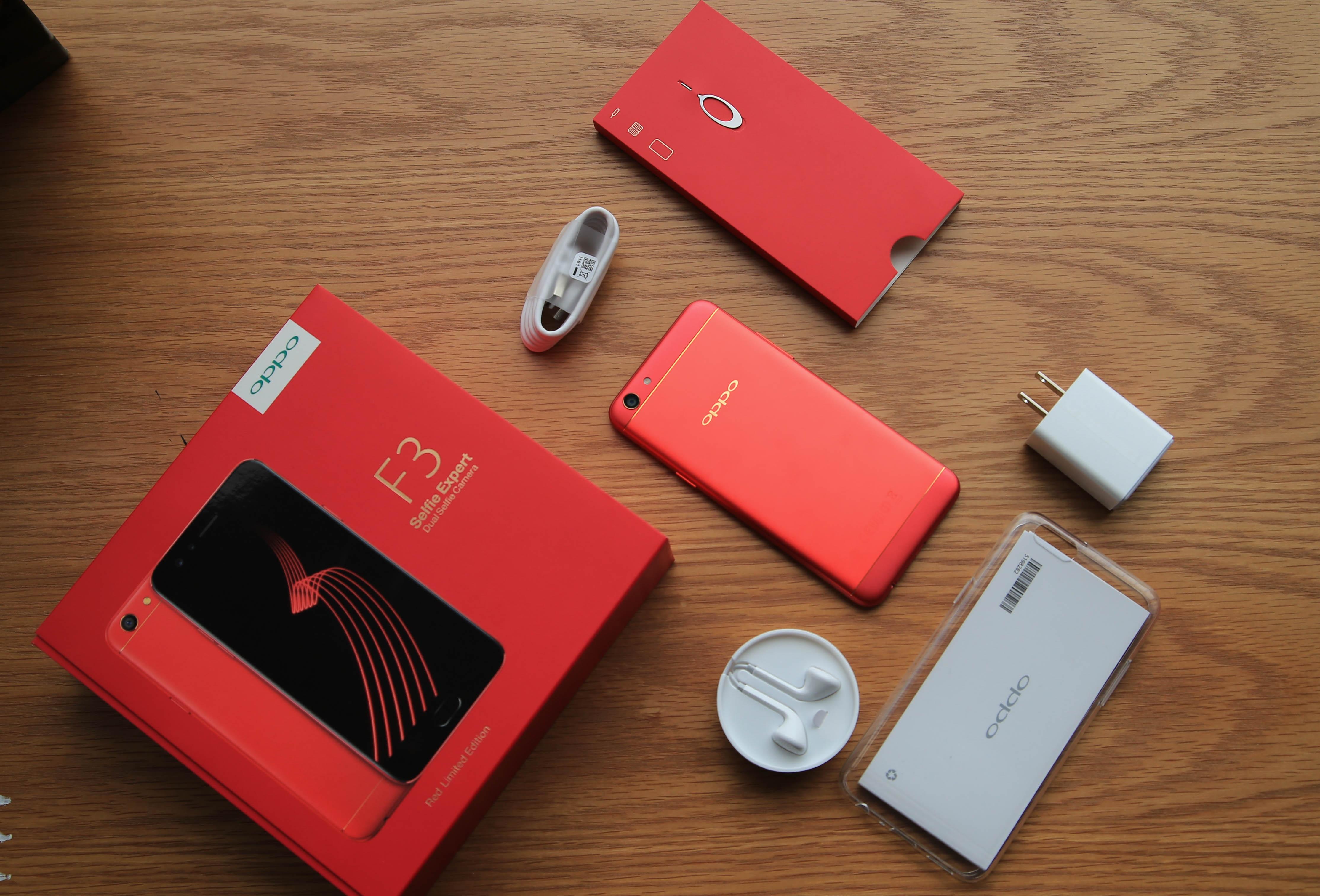 Đập hộp Oppo F3 màu đỏ chính hãng tại Việt Nam - 1