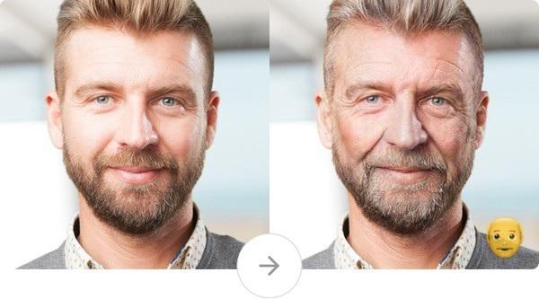 Tính năng giúp biến một gương mặt trở nên già hơn của FaceApp để dự đoán gương mặt của bạn trong tương lai