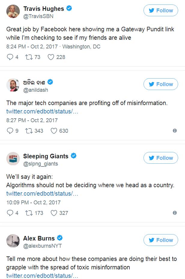 Người dùng phản hồi, chỉ trích thông tin giả mạo được lan truyền trên Facebook, Twitter.