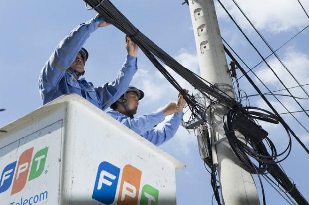FPT Telecom liên tuc đầu tư phát triển hạ tầng.
