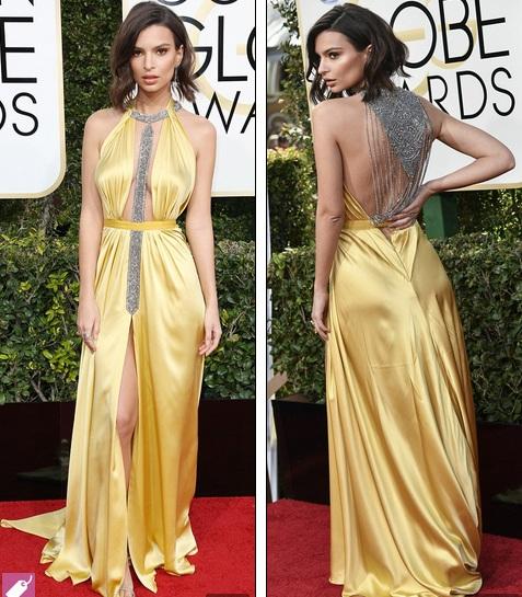 Không thể thấy vóc dáng đẹp của Emily Ratajkowski trong bộ váy lùng nhùng này