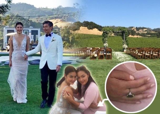 Đám cưới của Gaile Lok diễn ra ấm áp và chỉ có sự tham gia của những người thân. Người đẹp mang hai dòng máu Âu và Á chỉ mới công khai tình cảm hồi tháng 6 vừa rồi.