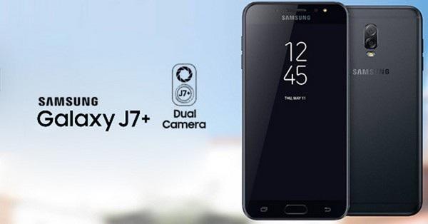 Hình ảnh Galaxy J7+ với cụm camera kép vừa bị lộ diện