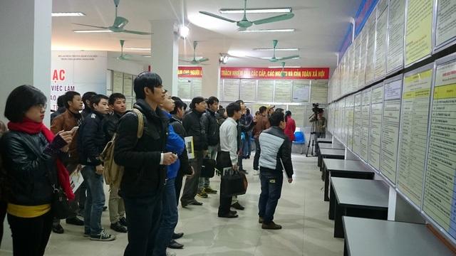 Năm 2016, Sàn GDVL Hà Nội: Hơn 50.000 chỉ tiêu tuyển dụng được rao tuyển - 1