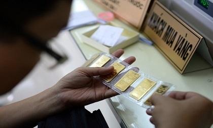 Vàng trong nước đồng loạt tăng mạnh khi giá vàng thế giới tiếp tục lên mức cao nhất trong 11 tháng qua.