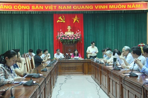 Giao ban báo chí tại Thành ủy Hà Nội chiều 27/6.