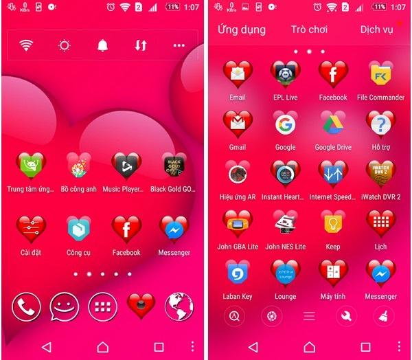 """""""Khoác áo tình yêu"""" cho Android để đón Valentine với bộ sưu tập giao diện miễn phí - 1"""