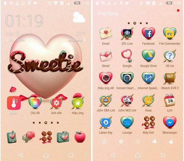 """""""Khoác áo tình yêu"""" cho Android để đón Valentine với bộ sưu tập giao diện miễn phí - 2"""