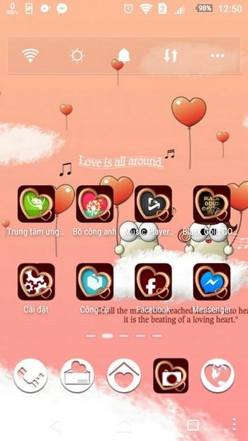 """""""Khoác áo tình yêu"""" cho Android để đón Valentine với bộ sưu tập giao diện miễn phí - 4"""