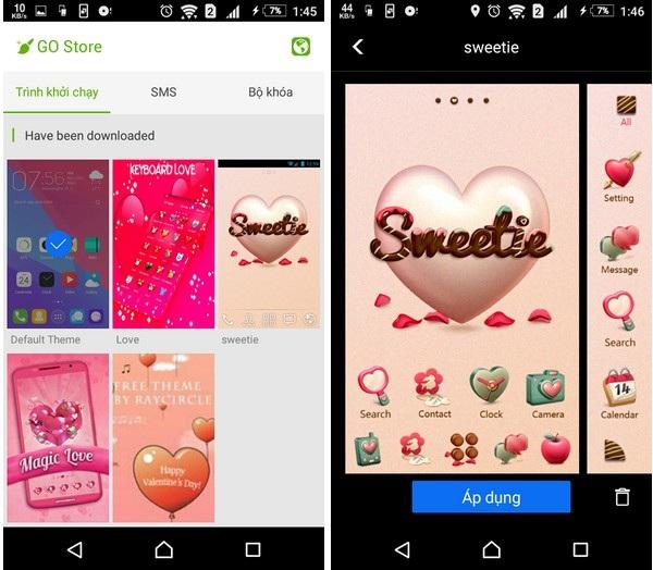 """""""Khoác áo tình yêu"""" cho Android để đón Valentine với bộ sưu tập giao diện miễn phí - 6"""