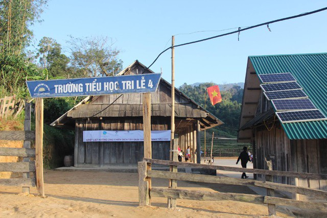 Trường Tiểu học Tri Lễ 4, huyện biên giới Quế Phong, Nghệ An nơi 100% học sinh là con em đồng bào dân tộc Mông