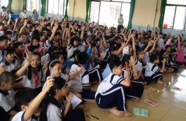 Học sinh tiểu học ở TPHCM trong chuyên đề về phòng tránh bị xâm hại tình dục