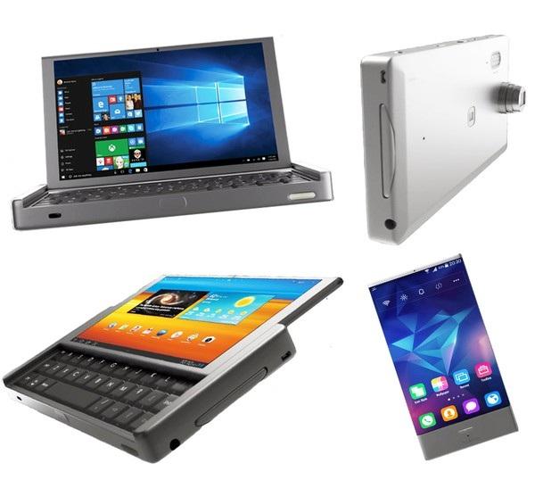 GraalPhone có thể hoạt động với 4 chức năng: máy tính bảng và smartphone chạy Android, laptop cỡ nhỏ chạy Windows 10 và camera chụp ảnh 3D