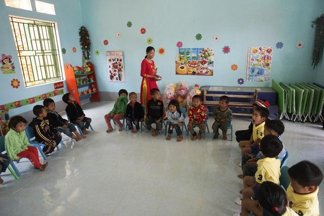 Một phòng học dành cho trẻ mầm non ở điểm trường Na Quang