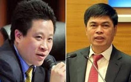 Hà Văn Thắm và Nguyễn Xuân Sơn bị cáo buộc tham ô tài sản.