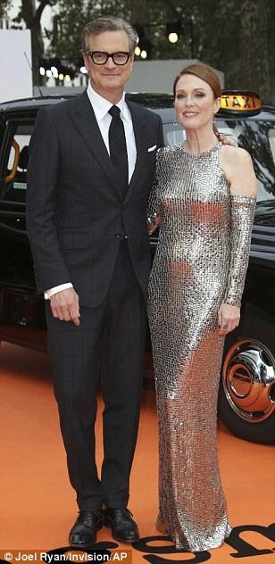 Julianne Moore thân thiết bên nam đồng nghiệp Colin Firth