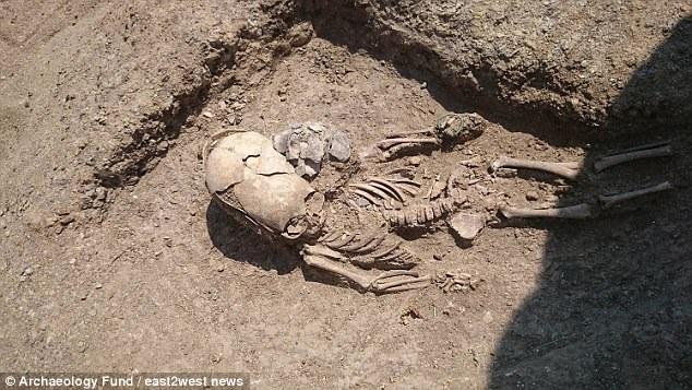 Hài cốt 2.000 năm tuổi của một bé trai mới được phát hiện ở Crimea.